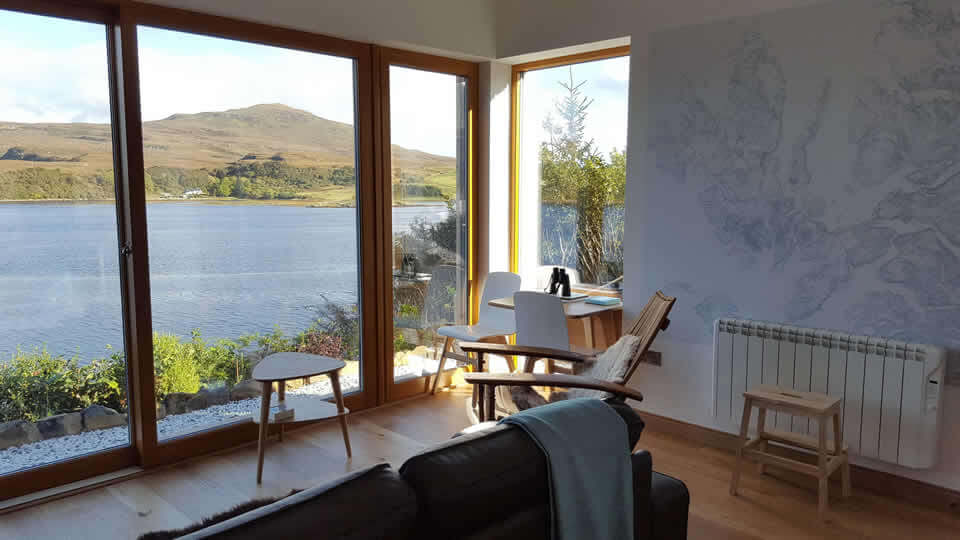 View from Air an Oir self catering accommodation, Portree
